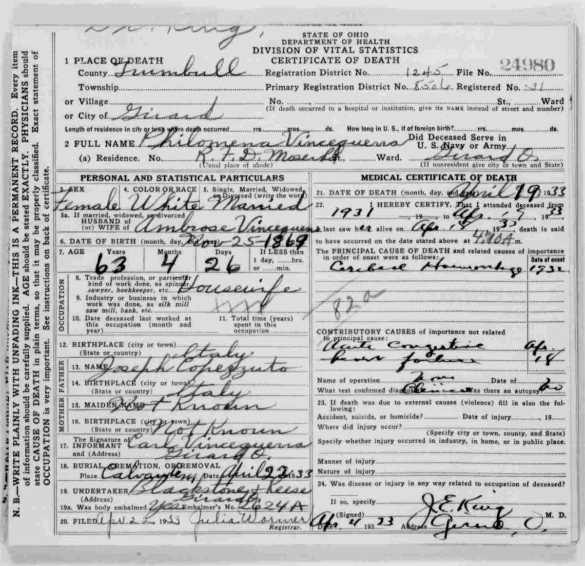 How to order birth certificate ohio best design sertificate 2017 usgen archives ross county ohio xflitez Gallery